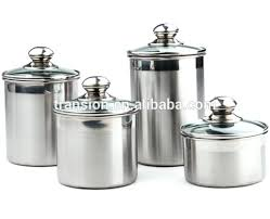 airtight canister set 5 stainless steel airtight canister set with glass lid snapwarer 24 pc airtight