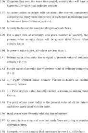 38 annuity tables can be used far all types of cash flows 1 5 1 49 the present value