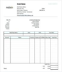 Invoice Template For Free Magnificent Hotel Bill Invoice Format Accommodation Template Revolvedesign