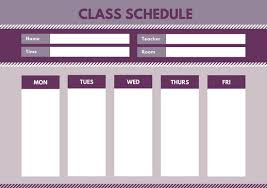 school schedule template customize 2 737 class schedule templates online canva