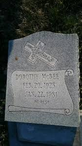 Dorthy N McBee (1925-1981) - Find A Grave Memorial