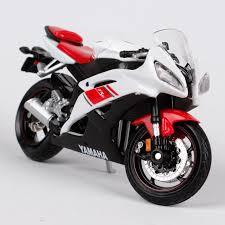 maisto 1 18 yamaha yzf r6 motorcycle bike diecast model toy new in
