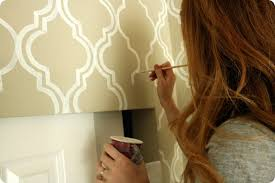 painting wallpaper lines. more painting around closet doors