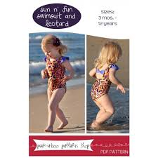 Peek A Boo Patterns Gorgeous The Fabric Fairy Sun N' Fun Swimsuit And Leotard Downloadable Sewing