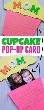 this pop up cupcake mother s day card is an adorable kid made keepsake gift