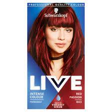 Schwarzkopf Live Intense Colour Red Passion 043 Permanent Hair Dye