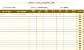 Printable Weekly Schedule Maker Excel Weekly Hourly Schedule Template Schedule Templates