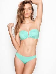 Victoria Secret Size Chart Swim Ruched V Splice Bandeau Victorias Secret Vs
