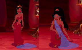princess jasmine in red