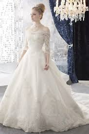 New Elegant Ball Gown Wedding Dresses With Sleeves 2016 Off