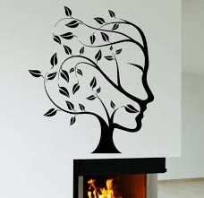 Small Picture Aliexpresscom Buy Abstract Nature Tree Woman Face Wall Sticker