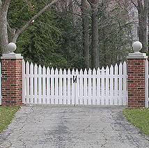 Custom Wood Gate Designs by Elyria Fence a Cleveland fence company