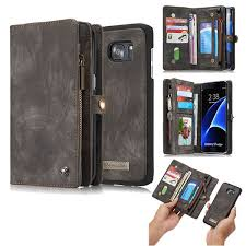 galaxy s7 edge detachable zipper leather wallet case black 39 99 26 99