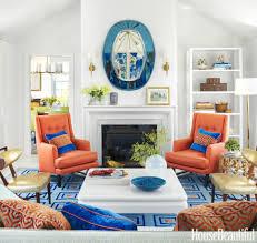 Orange And Blue Living Room Decor Home Decor Amp Interior Fancy Orange Living Room Compact Furniture