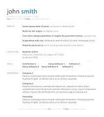 Simple Resume Template Word Gorgeous Resume Format Template Microsoft Word Sample Resume Templates Word