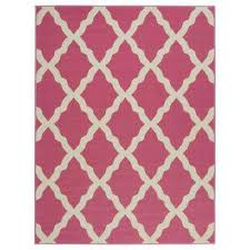 glamour collection pinkish red 5 ft x 6 ft 6 in moroccan trellis