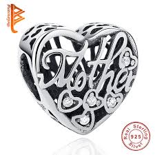 bela fit pandora bracelet necklace diy making heart shape crystal charm beads 925 sterling silver jewelry for mother thanksgiving day