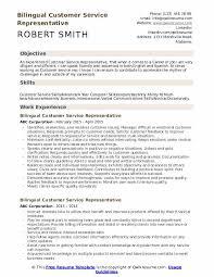 Customer Service Skills In Resume Bilingual Customer Service Representative Resume Samples