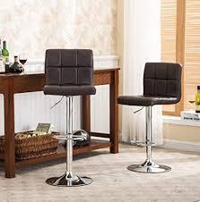 elegant bar stools. Wonderful Bar Roundhill Furniture 2 Swivel Elegant PU Leather Modern Adjustable Hydraulic  Barstools Brown Throughout Bar Stools L