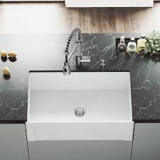 Vigo Vigo Matte Stone 30 L X 18 W Farmhouse Kitchen Sink With Faucet