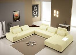 your bookmark products 2 587 50 5005b modern off white leather sectional sofa