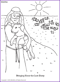 Small Picture Jesus and the Lost Sheep Coloring Page Kids Korner BibleWise