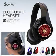 S-way Tai Nghe Không Dây Bluetooth 5.0 Tai Nghe Tai Nghe Âm Thanh Nổi Có  Thể Gập Lại Chơi Game Tai Nghe Kèm Micro Cho PC Điện Thoại Di Động Mp3 -