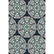 oriental weavers of america glendale navy indoor outdoor oriental area rug common 5