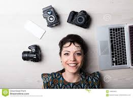 Photography Web Designer Happy Creative Woman Is A Web Designer Stock Photo Image
