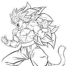 Small Picture Dragon Ball Z Goku Super Saiyan Four Ready To Fight Dragon Ball