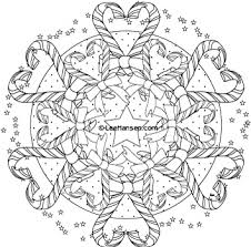 Small Picture Candy Cane Hearts Adult Coloring Page Mandala Printables