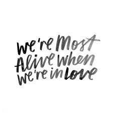 In Love Quotes Interesting Love Quotes We're Most Alive When We're In Love SoloQuotes