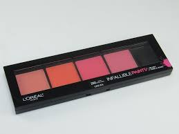 l oreal infallible paints pro artist blush palette 14 99 is a new four shade blush palette with brush which launched with the l oreal spring 2017