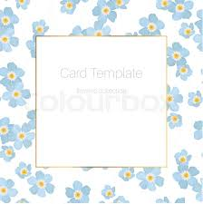 Small Card Template Spring Summer Floral Card Template Stock Vector Colourbox