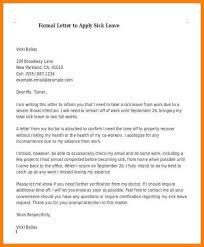 Sample Sick Leave Letter For Primary School Com Writing Format Copy