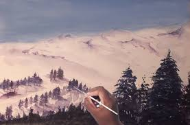 how to use watercolors for beginners a snowy mountains painting tutorial