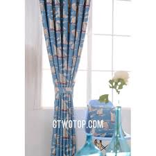 Living Room Curtain Fabric Room Blue And Gray Sailboat Fabric Half Price Nautical Curtains