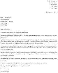 Example Cover Letter Digital Marketing Sample Document Letters