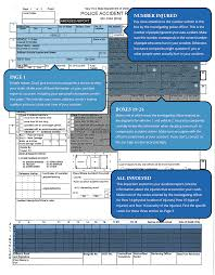 how to read your new york accident report page 1