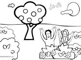 Creation Color Pages Coloring Page For Preschoolers Sunday School