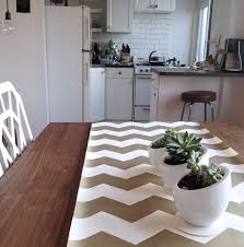 gold chevron table runner by cake kitchen papers