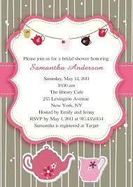 Tea Invitations Printable Bridal Shower Tea Party Invitations Tea Party Bridal Shower Invites