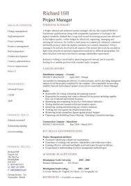 Sample Resume Project Coordinator project manager resume example] Project Manager Resume Template 97