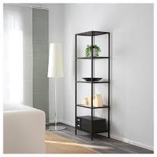 amazing ikea glass shelving unit v i t jö black brown 51 x 175 cm k e a adjule foot