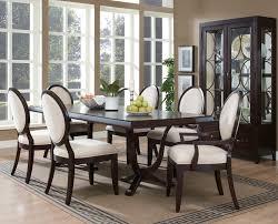 Formal Oval Dining Room Sets - Black oval dining room table