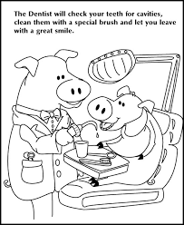 Small Picture Dentist Coloring Pages Cute Dental Health Coloring Pages