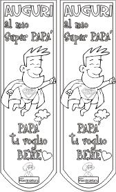 Segnalibri Per La Festa Del Papà Da Colorare Könyvjelző Festa