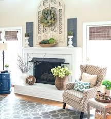 Decorated Design Delectable Decoration Fireplace Mantel Decor Modern Medium Size Of Chimney