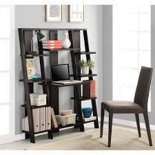Wall Unit Desk Combo Ameriwood Home Gradient Ladder Desk Bookcase Espresso Walmartcom