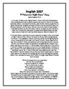 dream holiday essay gcse english marked by teachers com a midsummer nights dream